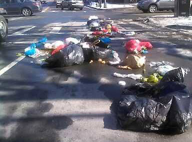 A lot of trash in the South End