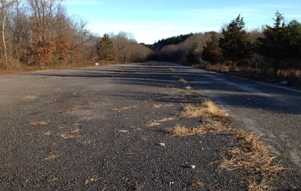 Abandone highway in Fowl Meadow in the Blue Hills Reservation