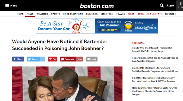 Boston.com Bohener assassination headline