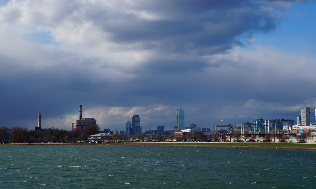 Storm over the Back Bay and South Boston