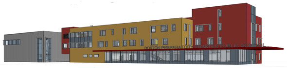 Proposed new charter school building on River Street in Hyde Park