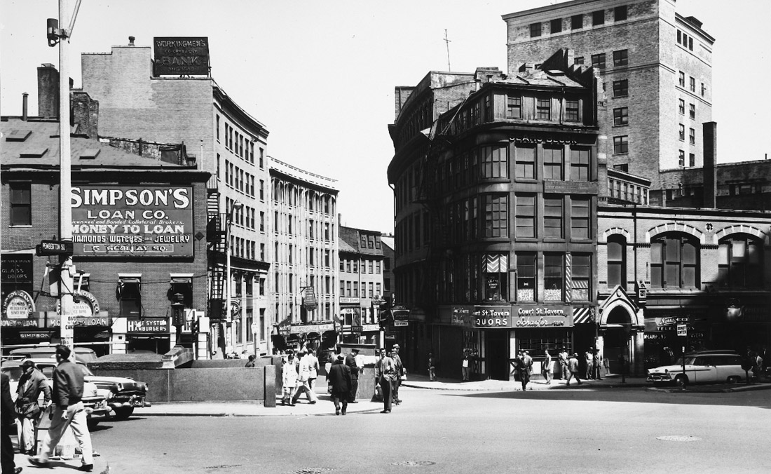 Scollay Square in Boston, where City Hall is now