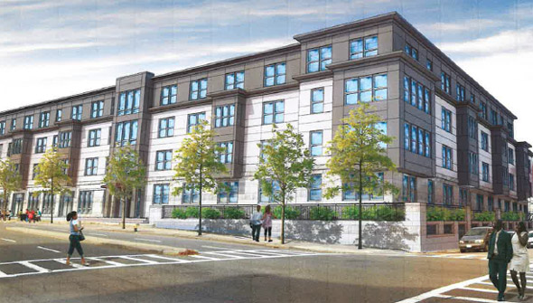 Proposed Cote Village building in Mattapan