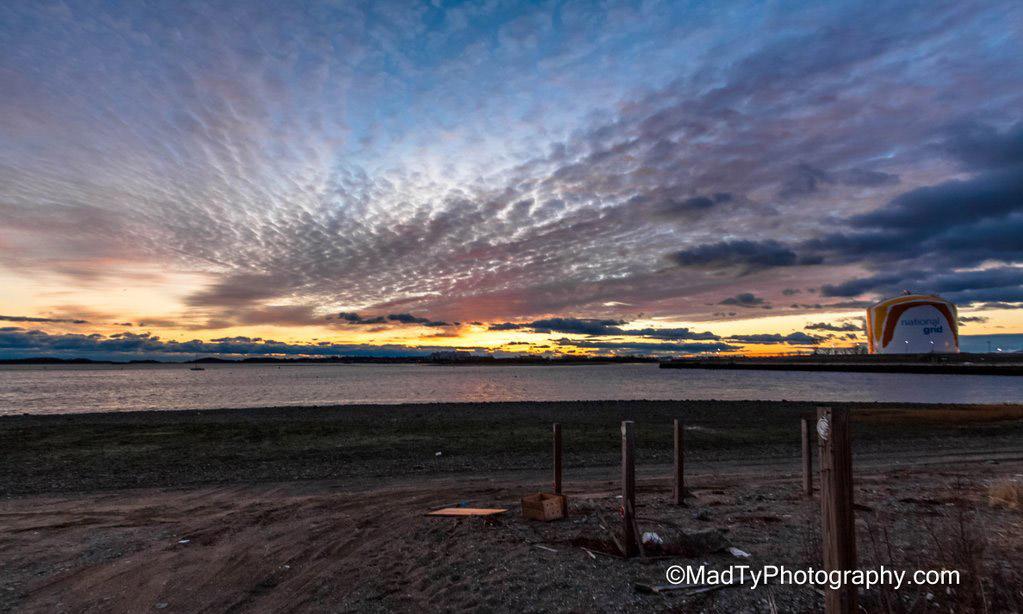 Sunrise over Dorchester Bay