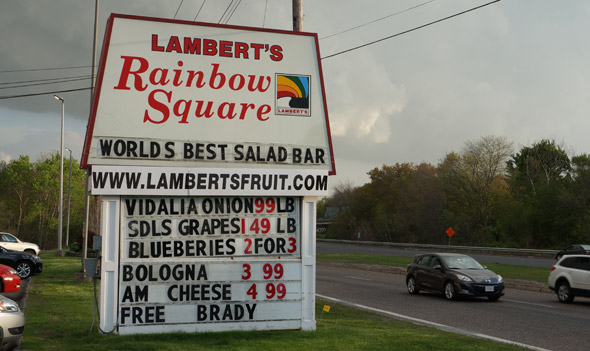 Free Brady on Lambert's sign in Westwood