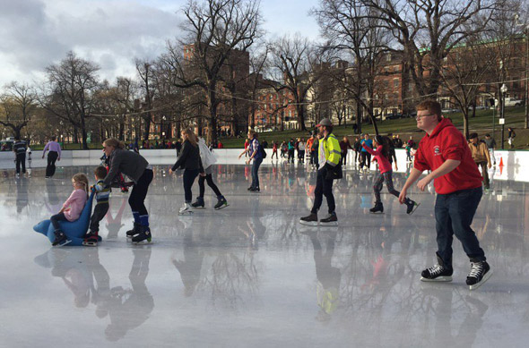 Skating at 70 on the Frog Pond