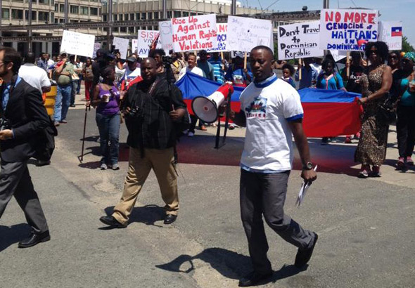 Haitian protest march that started in Government Center