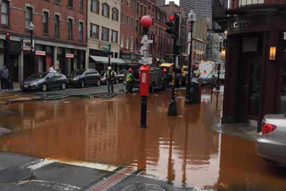 Flooded Hanover Street