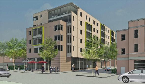 Proposed JCHE senior housing on Chestnut Hill Avenue in Brighton