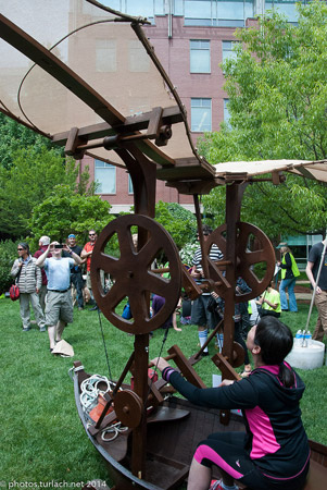 Flying contraption at Cambridge race