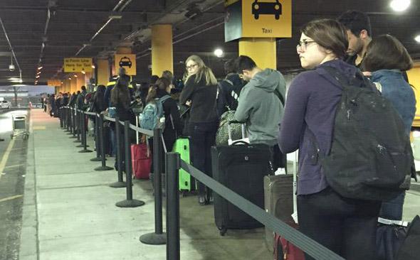 Long line at Logan