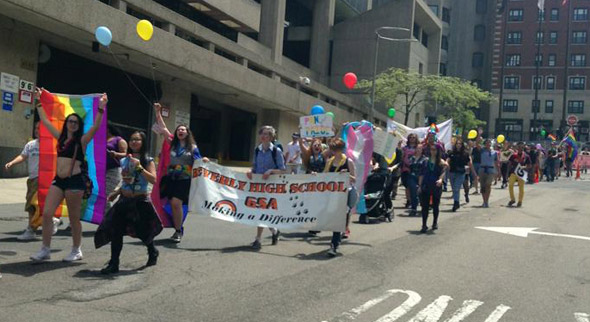 Youth Pride parade