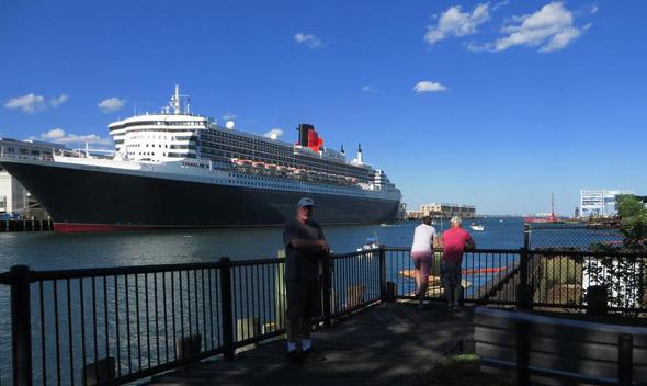 Queen Mary 2 at Black Falcon pier in Boston