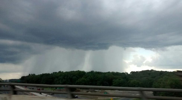 Stormburst over the Massachusetts Turnpike