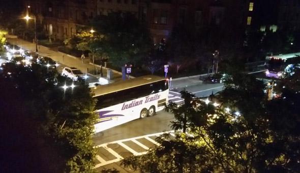 Buses backing up on Berkeley