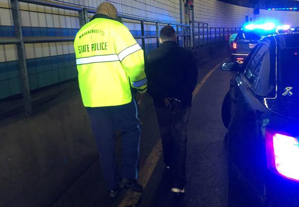 Man under arrest in tunnel caper in Boston