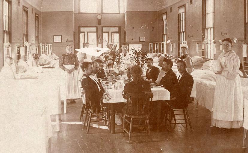 Thanksgiving in Ward T at Boston City Hospital