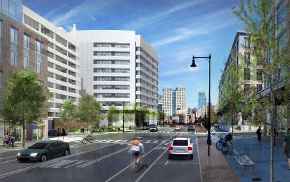 Architect's rendering of 321 Harrison Ave.