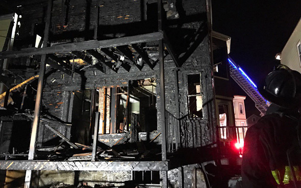 Read of 36 Hall St. in Jamaica Plain after fire