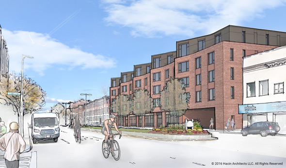 Proposed Hamilton Co. building on Brighton Avenue in Allston