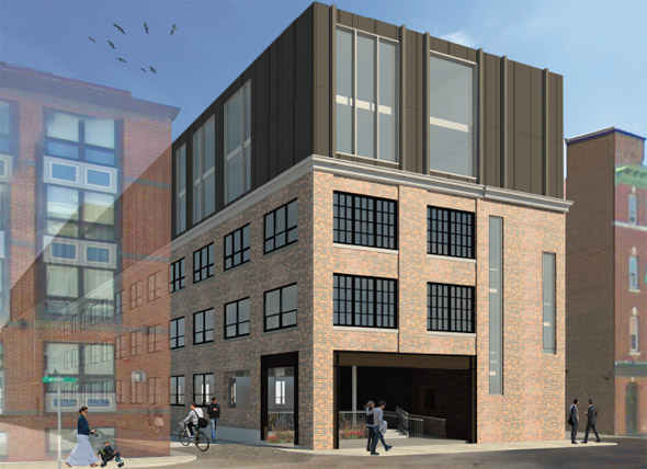 Architect's rendering of proposed 69 A St. building