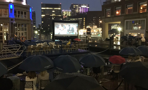 Watching An Affair to Remember in the rain in Boston
