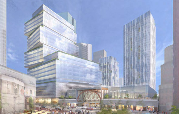 Proposed tower at Back Bay train station in Boston