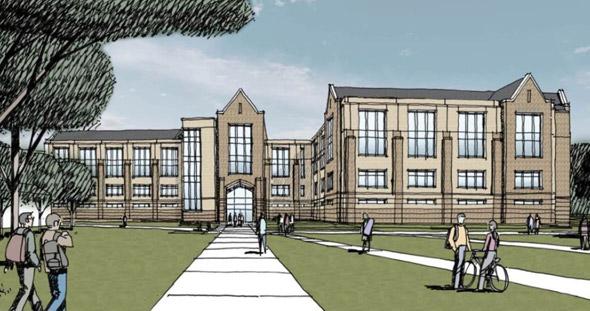 Proposed Boston College recreation center