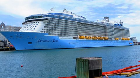 Anthem of the Seas in South Boston