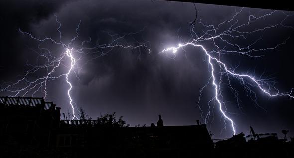 Lightning over Boston