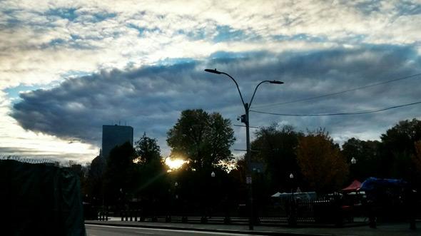 Weird cloud over Boston