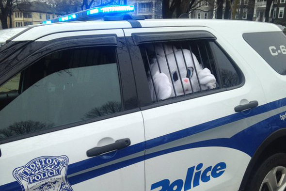 Easter Bunny behind bars in South Boston