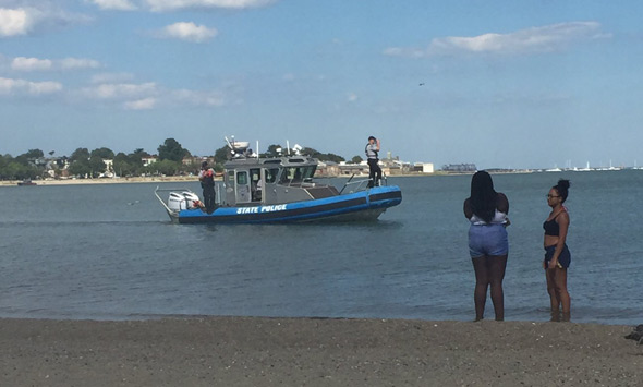 Troopers search water off Carson Beach