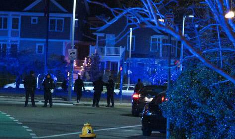 Car-crash scene in Brighton