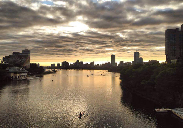 Sunrise over the Charles River