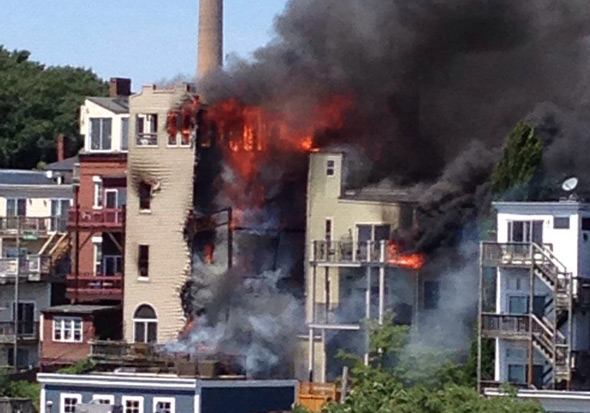 Fire at 284 Bunker Hill St. in Charlestown