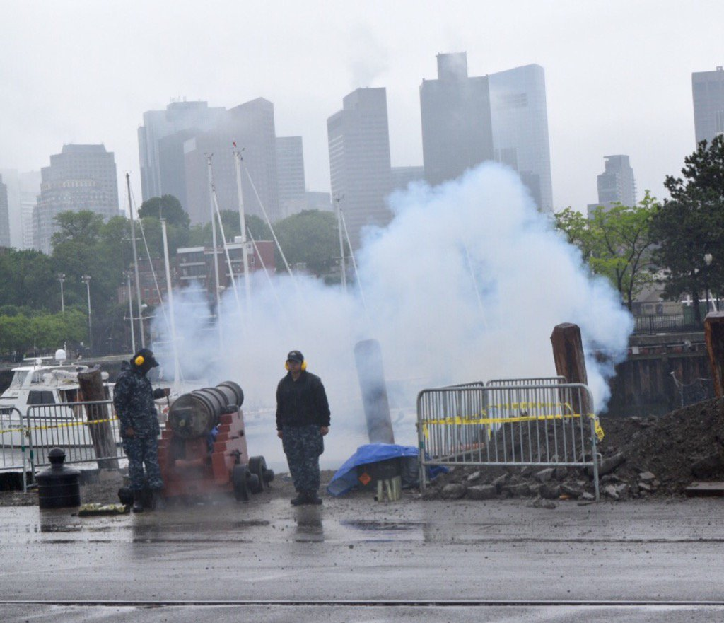 Cannon fired on Memorial Day in the Charlestown Navy Yard
