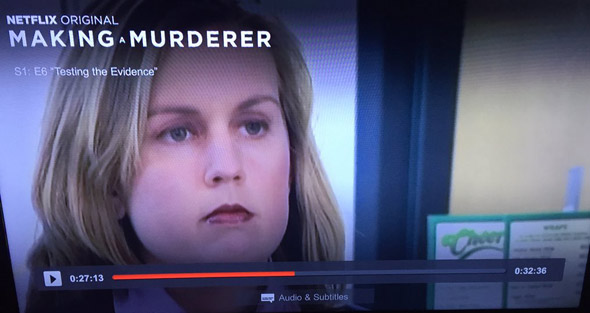 Cheers thing on Making a Murderer