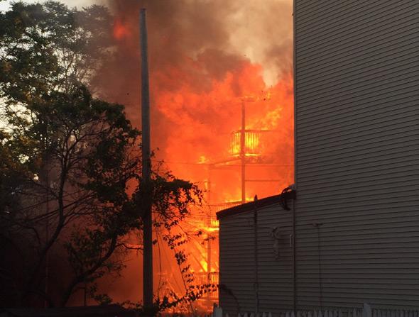 Fire on Chelsea Street in East Boston