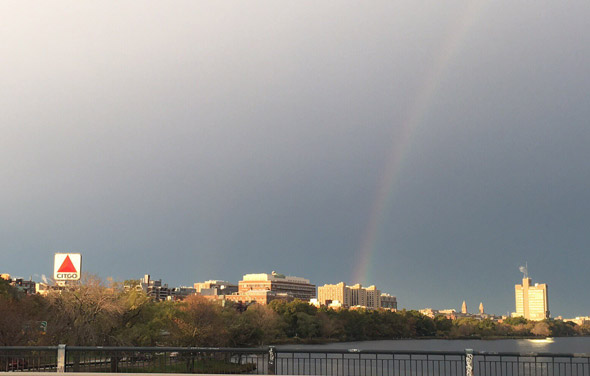Rainbow over the Charles River