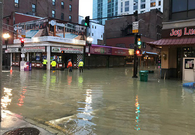 Flooded Chinatown