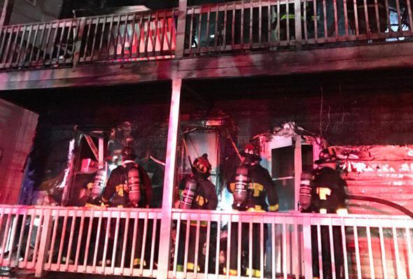 Ellington Street fire in Dorchester