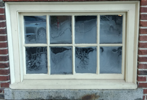 Frosted window on the State House