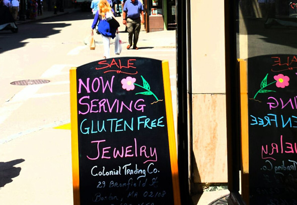 Gluten-free option in downtown Boston