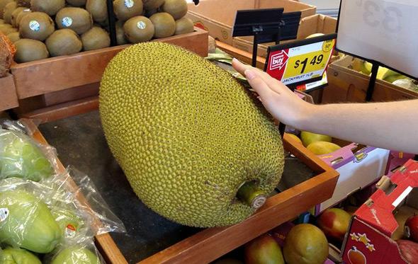 Jackfruit in a Roslindale supermarket