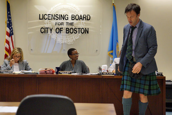 Jason Waddleton after handing some paperwork to Boston Licensing Board