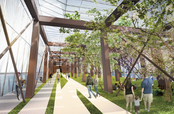 Proposed Northern Avenue Botanical Bridge over Fort Point Channel