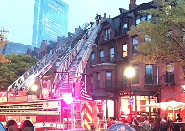Newbury Street fire