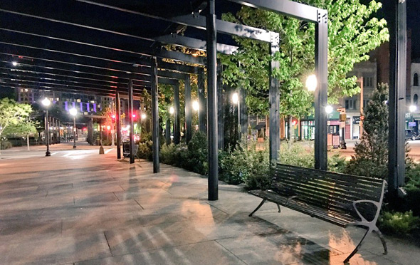 No swings on the Rose Kennedy Greenway