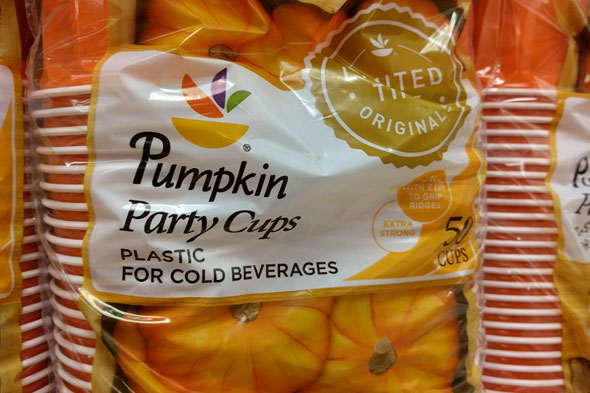 Pumpkin-spice cups at Boston-area supermarket